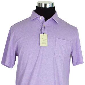 NEW Peter Millar Mens Polo Lilac Purple White